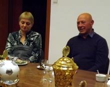 Ewa Gryziecka-Kwiecińska i Czesław Kwieciński, olimpijczycy, goście honorowi sekcji LA